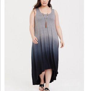 Torrid dip dye ombré dress